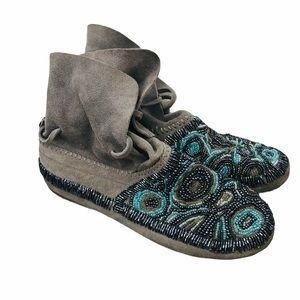 House of Harlow 1960 Mallory beaded Moccasins